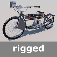 rigged henderson model-a 1912 3d model