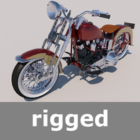 motorcycle motor harley 3d 3ds