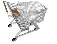 3d shopping trolley model