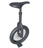 unicycle bike dae 3d model