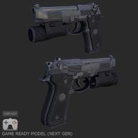 pistol 9mm beretta max