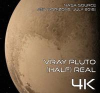 pluto half real 4k 3d model