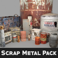 pack scrap rusted metal 3d max