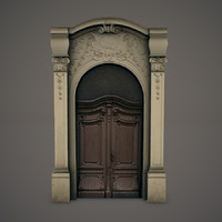 ornate door 3d model