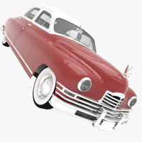 3d packard standard touring sedan model
