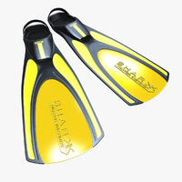 3d model swim fins oceanic