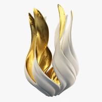 vase gilded magritte 3d max