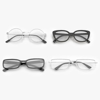 folded glasses 3d model