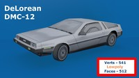 delorean dmc-12 3d model