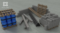 3d construction elements model