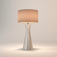 Chelsom Ceramic Art Ribbed Table Lamp