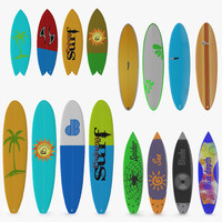 surfboards 2 3d model