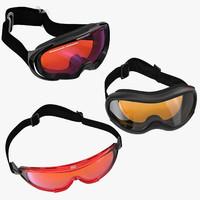 ski goggles 3d max