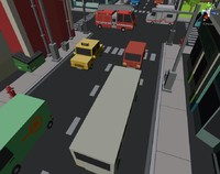 simple town cars 3d model