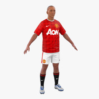 soccer player manchester united 3d model
