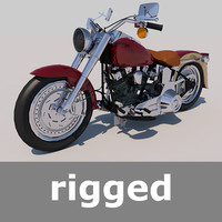 Rigged Harley Davidson Fat Boy Motorcycle