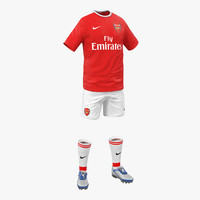 3d soccer clothes arsenal model