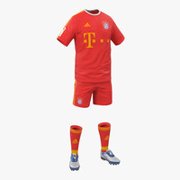 soccer clothes bayern 3d model