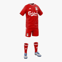 soccer clothes liverpool 3d max
