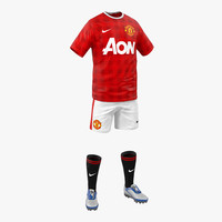 3d soccer clothes manchester united model