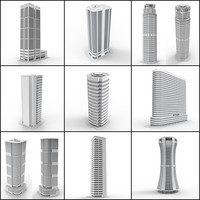 3d model skyscrapers