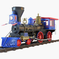 jupiter steam locomotive 3d obj