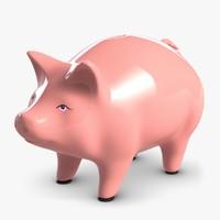 piggy bank 2 3d model