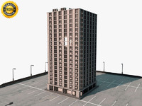 building parking lot 3d 3ds