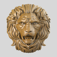 3d model of lion head