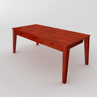 wooden workdesk 3d 3ds