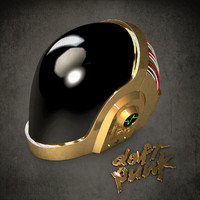3d daft punk guy helmet