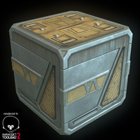Sci Fi Crate - Low Poly