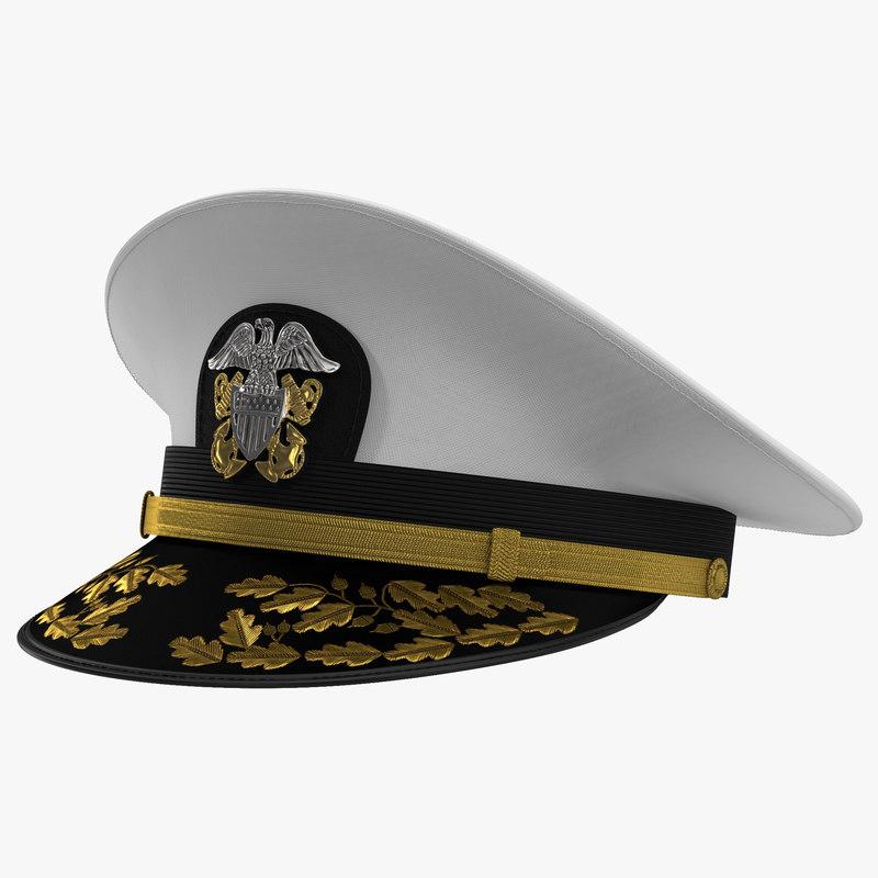 Admiral Combination Hat 3d model 00.jpg