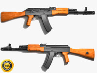 3d ak-47 assault rifle