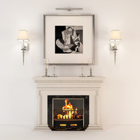 max art deco fireplace