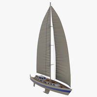 3d sailing yacht model