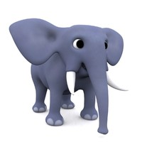 cartoon elephant 3d max