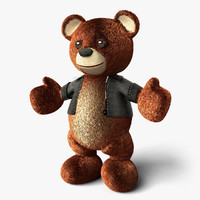 3d teddy bear leather jacket