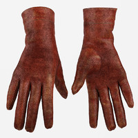 leather women s gloves 3d fbx
