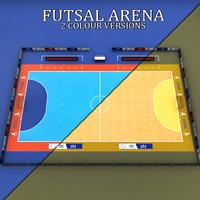Futsal court arena