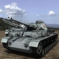 3d obj panzer iv