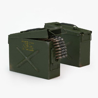 Ammunition Case (50cal) & Bullets
