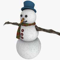 3d snowman modeled model