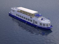 czech cruise boat poseidon 3d max