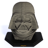 sculpture puzzle darth vader 3d 3ds