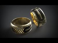 3d model of ring cnc printing