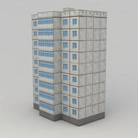 Lowpoly city building 3