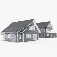 3d scandinavian houses