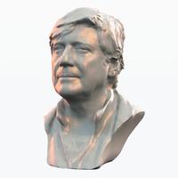 3d human head bust