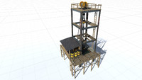 3d ready oil rig tower